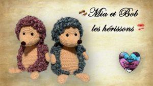 Mia et Bob, les hérissons Lidia Crochet Tricot