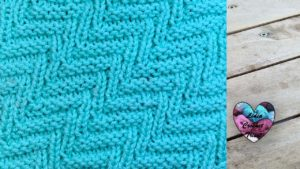 Point zig-zag incliné Lidia Crochet Tricot