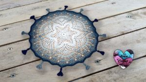 Tapis étoile Lidia Crochet Tricot