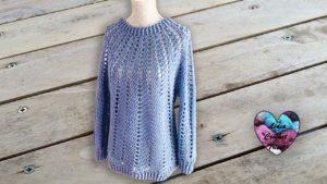Pull cool Lidia Crochet Tricot
