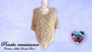 Poncho renaissance Lidia Crochet Tricot