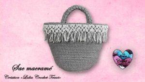 Sac macramé Lidia Crochet Tricot