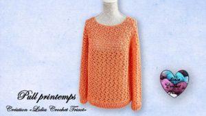 Pull printemps Lidia Crochet Tricot
