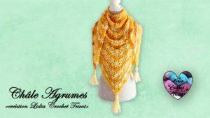 Châle Agrumes Lidia Crochet Tricot