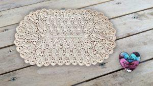 Tapis feuilles Lidia Crochet Tricot