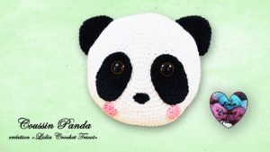 Coussin Panda Lidia Crochet Tricot