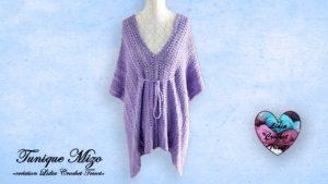 Tunique kimono Mizo Lidia Crochet Tricot