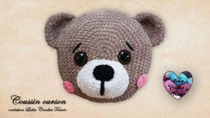 Coussin Ourson Lidia Crochet Tricot
