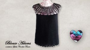 Blouse Adams Lidia Crochet Tricot
