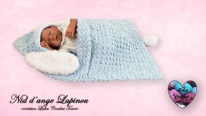 Nid d'ange Lapinou Lidia Crochet Tricot