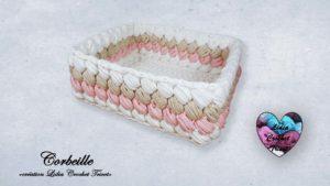 Corbeille carrée Lidia Crochet Tricot