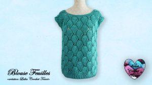 Blouse feuilles Lidia Crochet Tricot