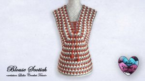 Blouse Scotish Lidia Crochet Tricot