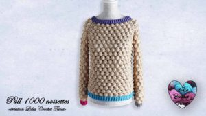 Pull 1000 noisettes Lidia Crochet Tricot