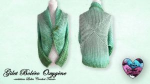 Gilet Boléro Oxygène Lidia Crochet Tricot