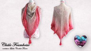 Châle Framboise Lidia Crochet Tricot