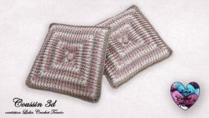 Coussin effet 3d Lidia Crochet Tricot