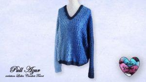 Pull Azur Lidia Crochet Tricot