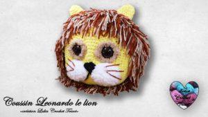 Coussin Leonardo le lion Lidia Crochet Tricot