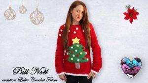 Pull Noël Lidia Crochet Tricot
