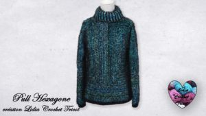 Pull Hexagone Lidia Crochet Tricot