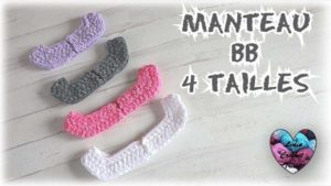 Manteau bébé 4 tailles Lidia Crochet Tricot