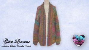 Gilet Licorne Lidia Crochet Tricot