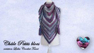 Châle Petits blocs Lidia Crochet Tricot