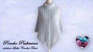Poncho Pashmina Lidia Crochet Tricot