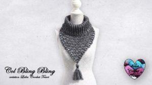 Col Bling Bling Lidia Crochet Tricot