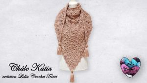 Châle Katia Lidia Crochet Tricot