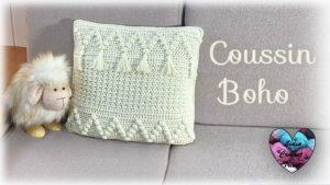 Coussin Boho Lidia Crochet Tricot