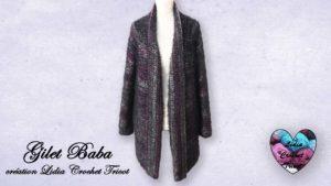 Cardigan gilet Baba Lidia Crochet Tricot