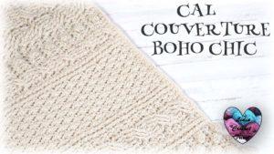 Cal couverture Boho Chic Lidia Crochet Tricot