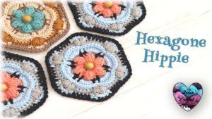 "Hexagone ""Hippie"" Lidia Crochet Tricot"