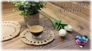 Sous Verres Lidia Crochet Tricot