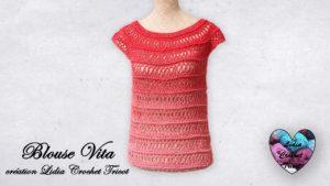 Blouse Vita Lidia Crochet Tricot
