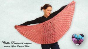Châle Pomme d'amour Lidia Crochet Tricot