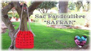 """Sac Bandoulière """"Safran"""" Lidia Crochet Tricot"""