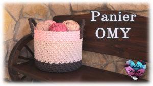 Panier Omy Lidia Crochet Tricot