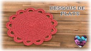Dessous de plats/assiettes Lidia Crochet Tricot