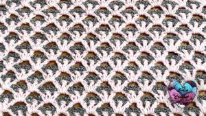 Point couverture Lidia Crochet Tricot
