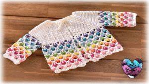 Brassière bébé Arc en ciel Lidia Crochet Tricot