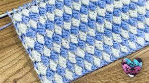 Point relief crochet tunisien Lidia Crochet Tricot