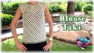 Blouse Taki Lidia Crochet Tricot