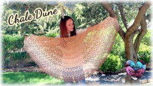 Châle Dune Lidia Crochet Tricot