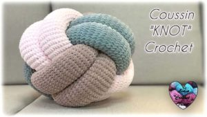 Coussin KNOT Lidia Crochet Tricot