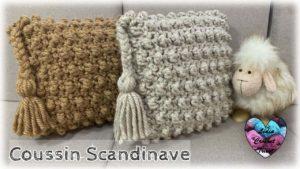 "Coussin ""Scandinave"" Lidia Crochet Tricot"