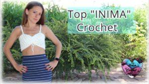 Top Inima Lidia Crochet Tricot