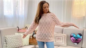 Pull Romance Lidia Crochet Tricot